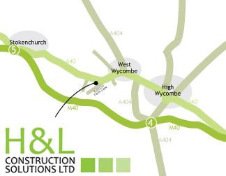 H&L Costruction Solutions Location Map, West Wycombe, Buckinghamshire